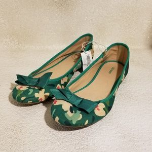 Old Navy Fast Floral Bow Ballet flats